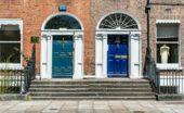 Irland Dublinreise bunte Türen