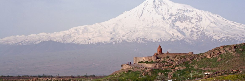 Kloster Khor Virap vor dem heiligen Berg Ararat