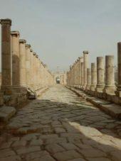Jordanienreise-Säulen-Jerash
