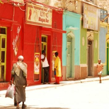 Äthiopien-Individualreise-bunte Häuser