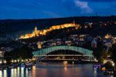 Georgienreise Tbilisi Friedensbrücke