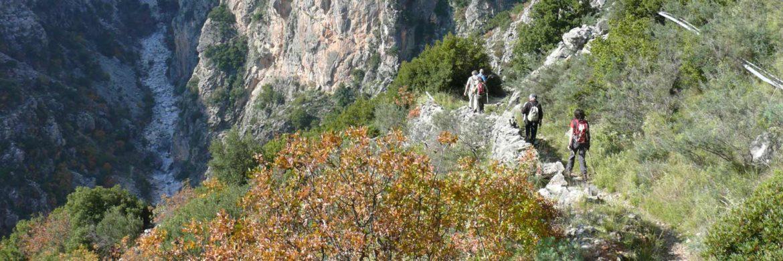 Griechenland Wanderreise: Wanderung durch Schlucht