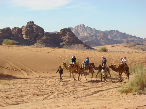 Kameltrekking Jordanien Wüste